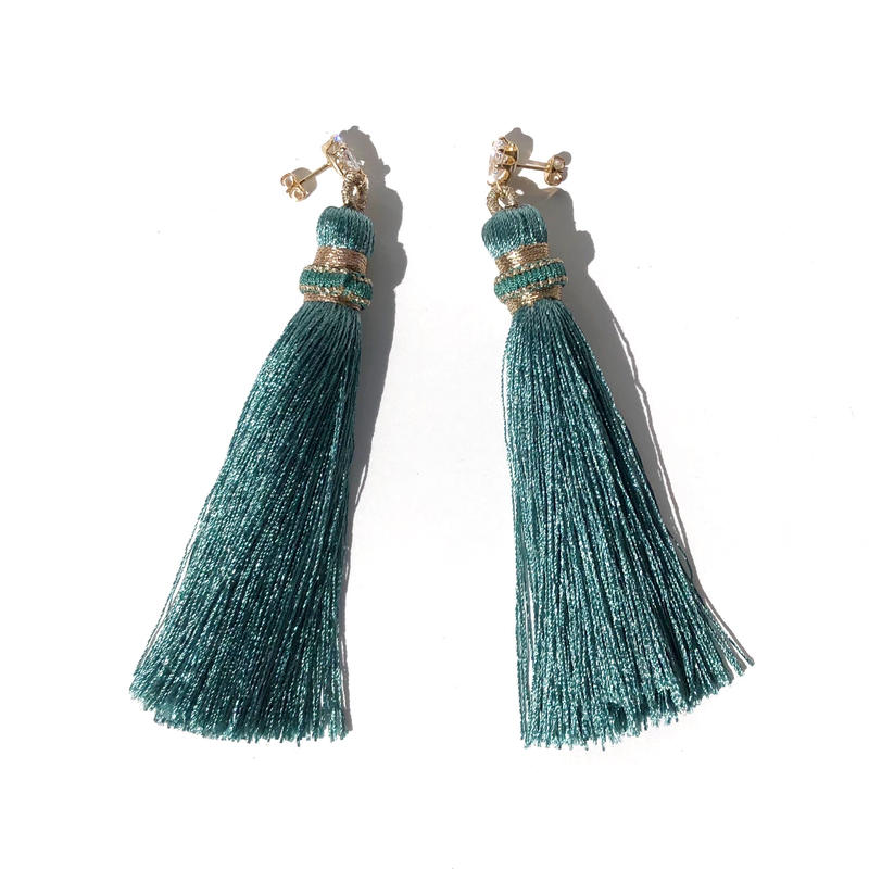 Green Tassel Pierce