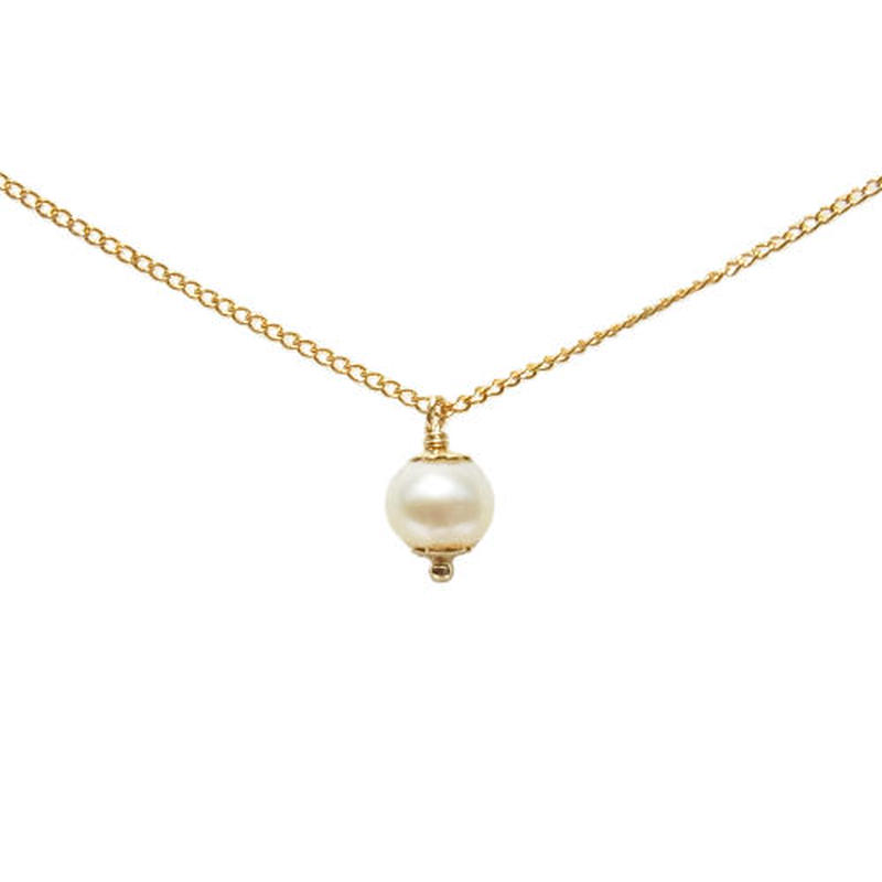 Skinny Necklace -Pearl-