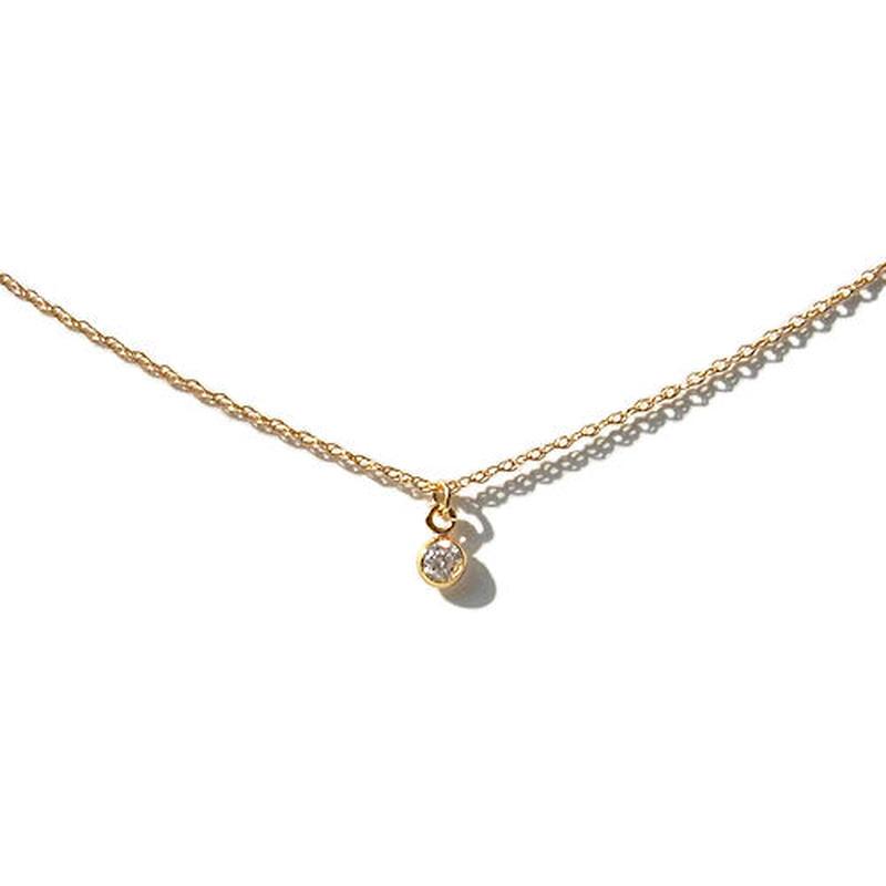 Skinny Necklace -Putit zirconia-