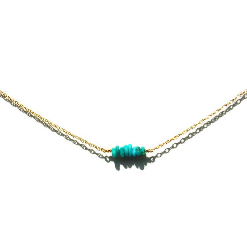 Skinny Necklace -Turquoise-