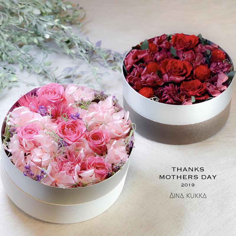 母の日[Flower Box・Msize]カラー2種/プリザーブドフラワー