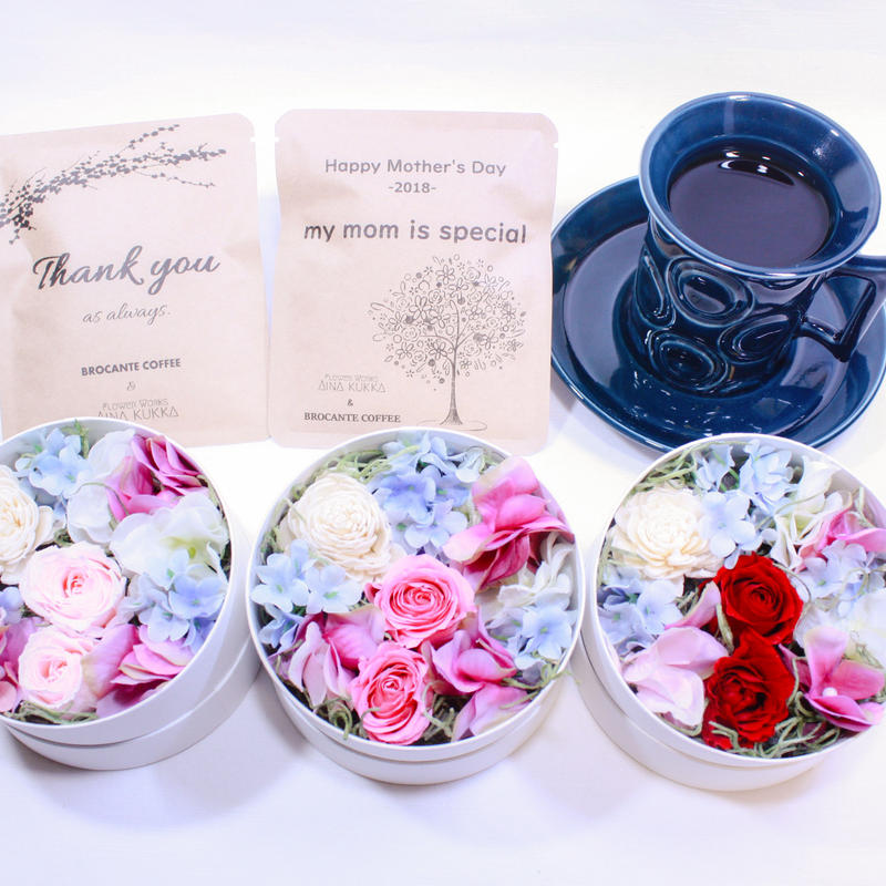 [Flower & Coffee SET]Box S+メッセージドリップバック2種