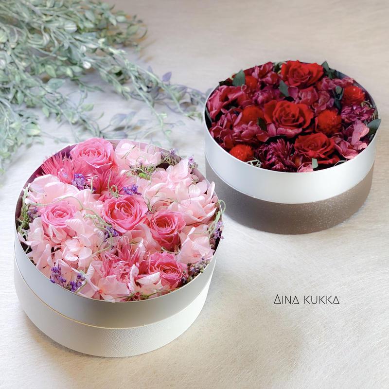[Flower Box・Msize]カラー2種/プリザーブドフラワー
