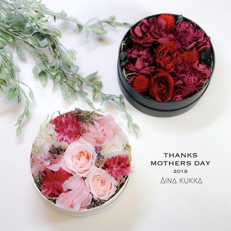 母の日[Flower Box・Ssize]カラー2種/プリザーブドフラワー