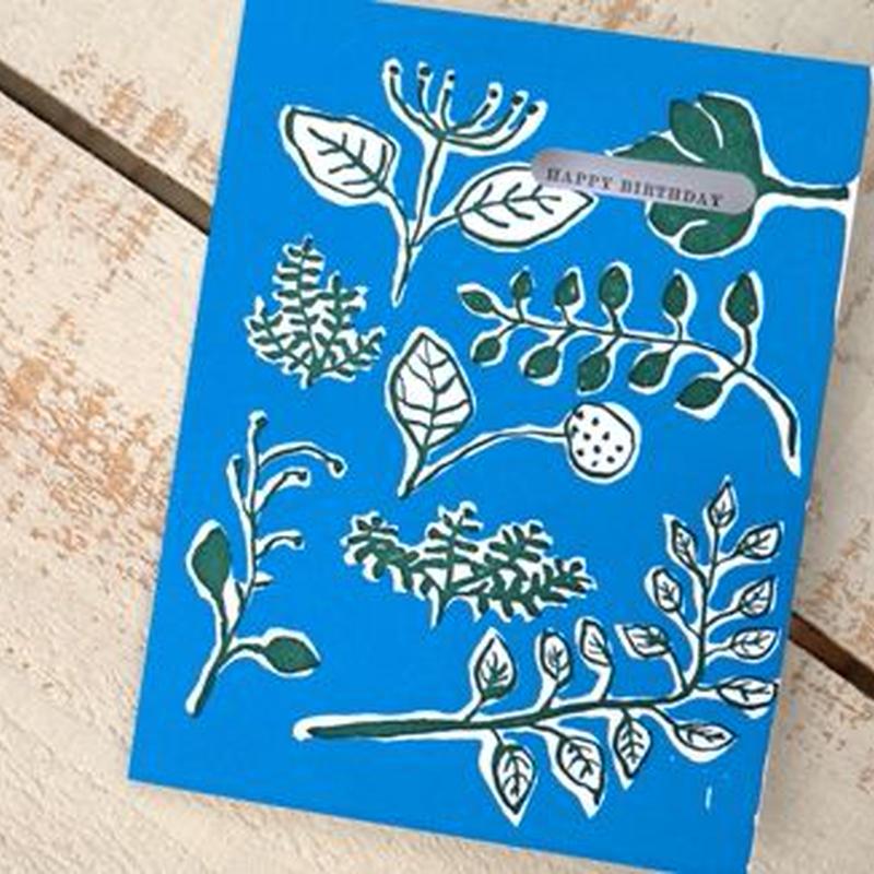 グリーティングカード「Botanical Birthday」