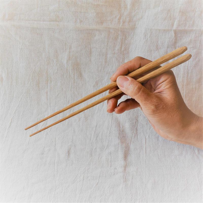 鉄木削り箸180(こども用) 福山修一