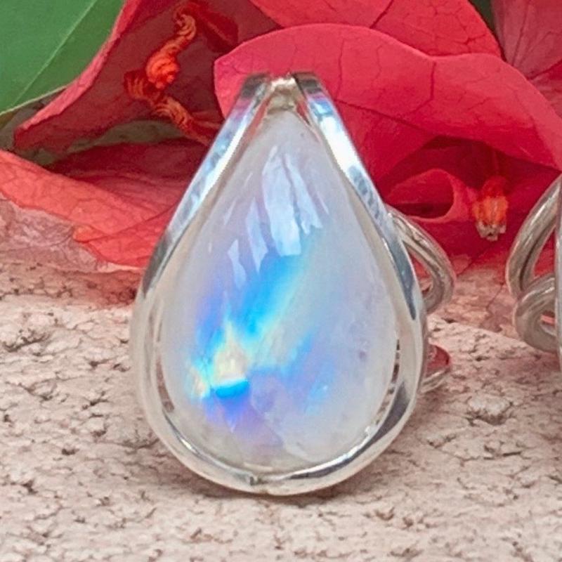 """N様 売約済みDream Rainbow moonstone jewelry """" ĀNELA """""""