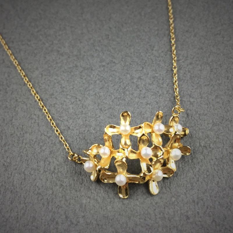 Osmanthus necklace(18KGP) 金木犀ネックレス(18KGP)