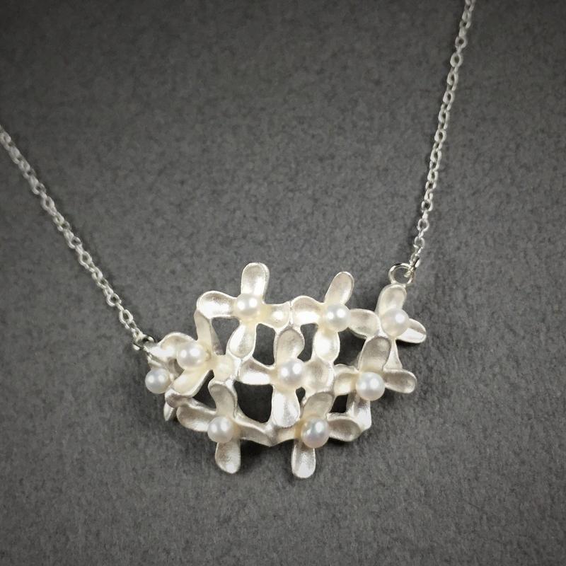 Osmanthus necklace(SV) 金木犀ネックレス(SV)