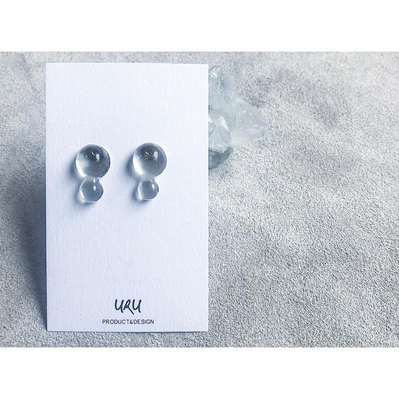 Clear Drip Earrings