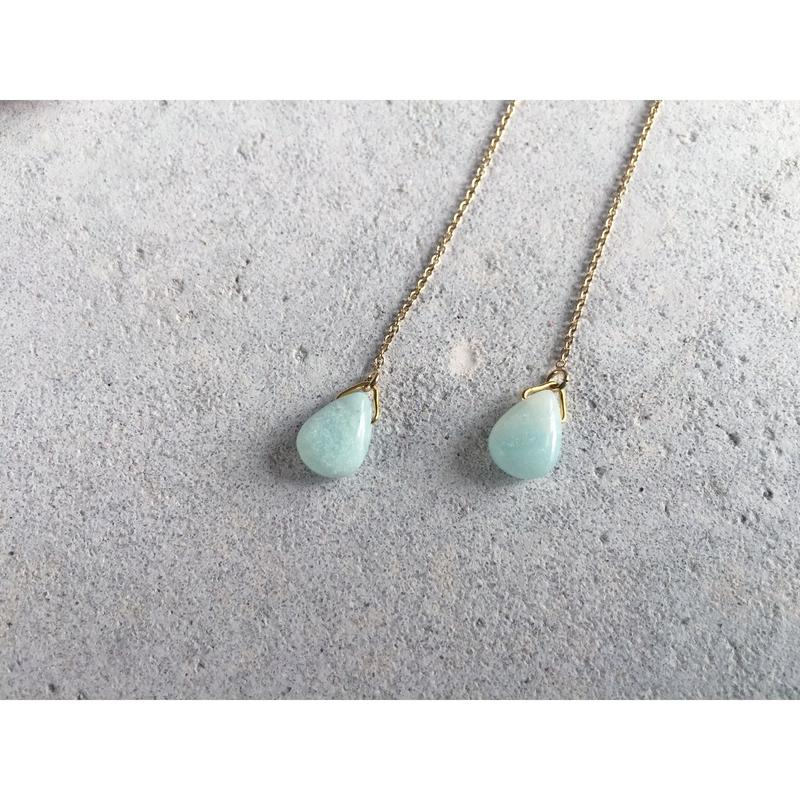 Amazonite Chain Earrings