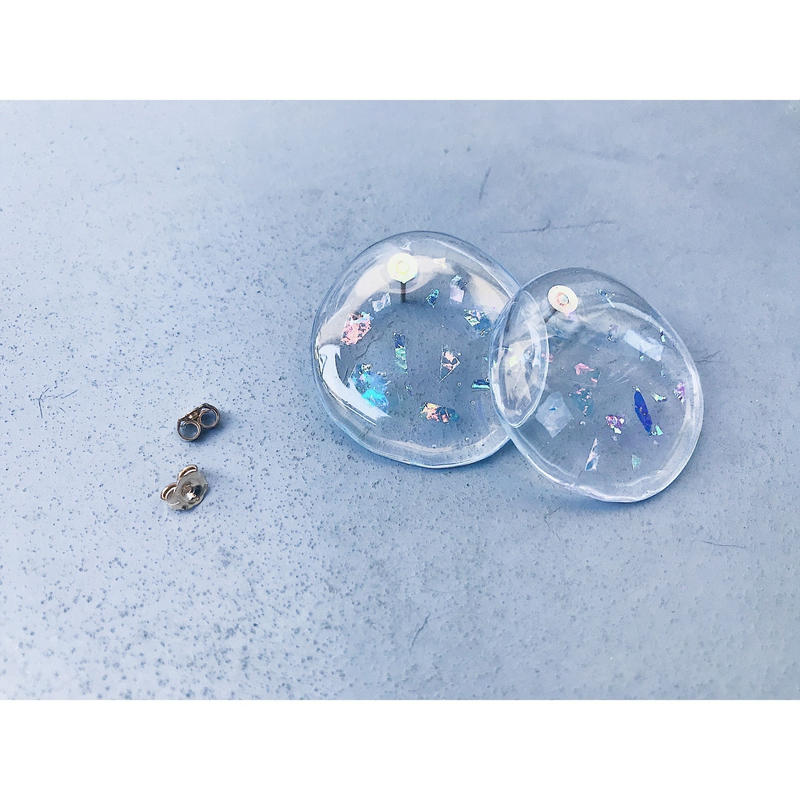 Glitter Disk Earrings