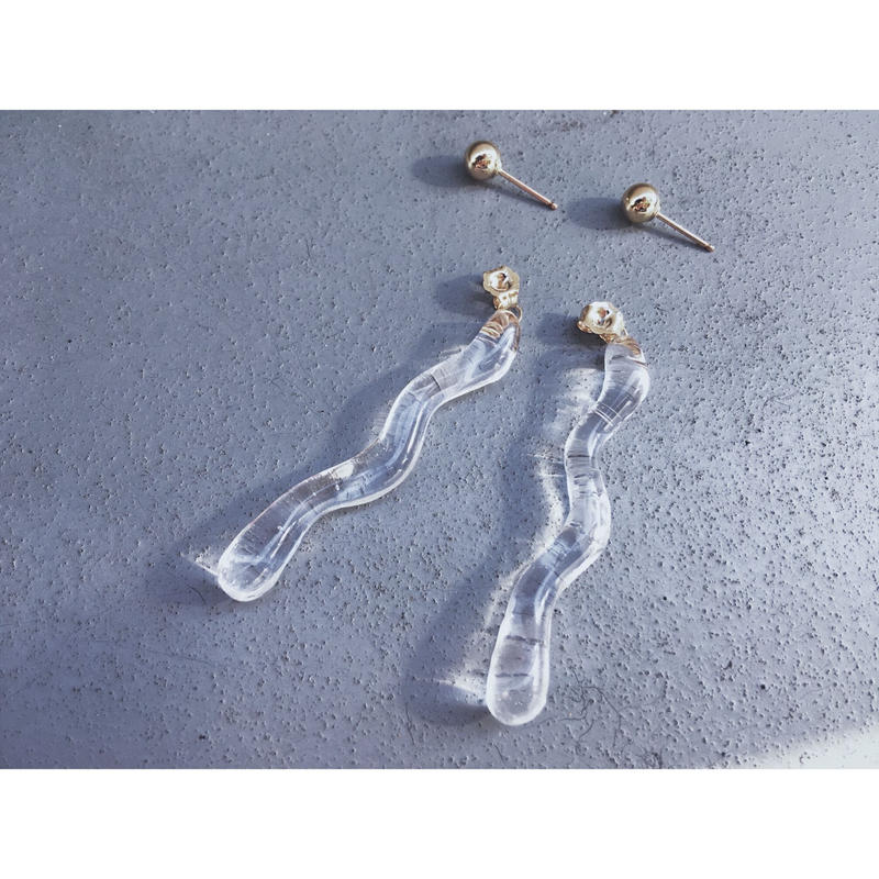 Watery Line  Charm Earrings【セット商品】