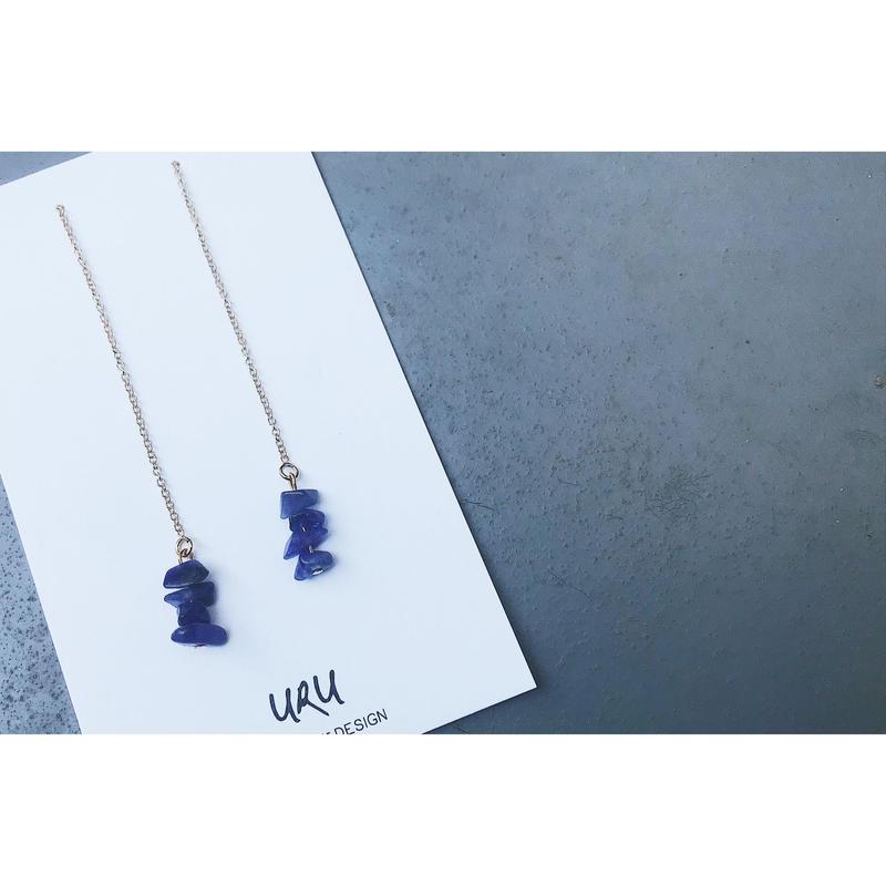 Kyanite Chain Earrings