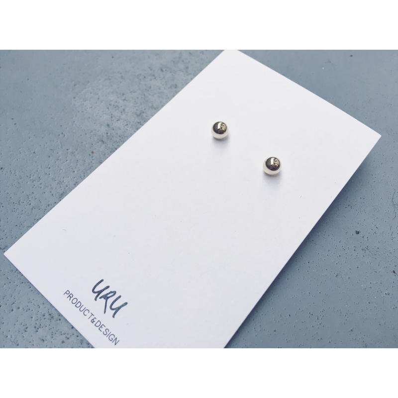 Gold Sphere Earrings