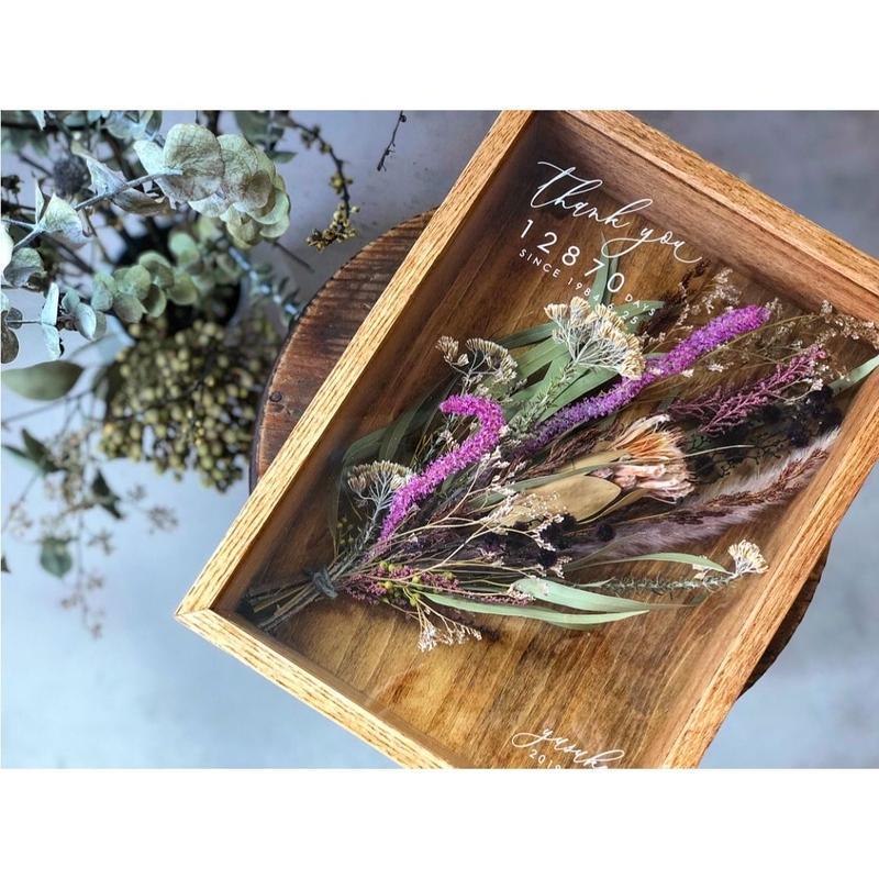 【両親贈呈品】Box  Bouquet : Natural Violet 1個