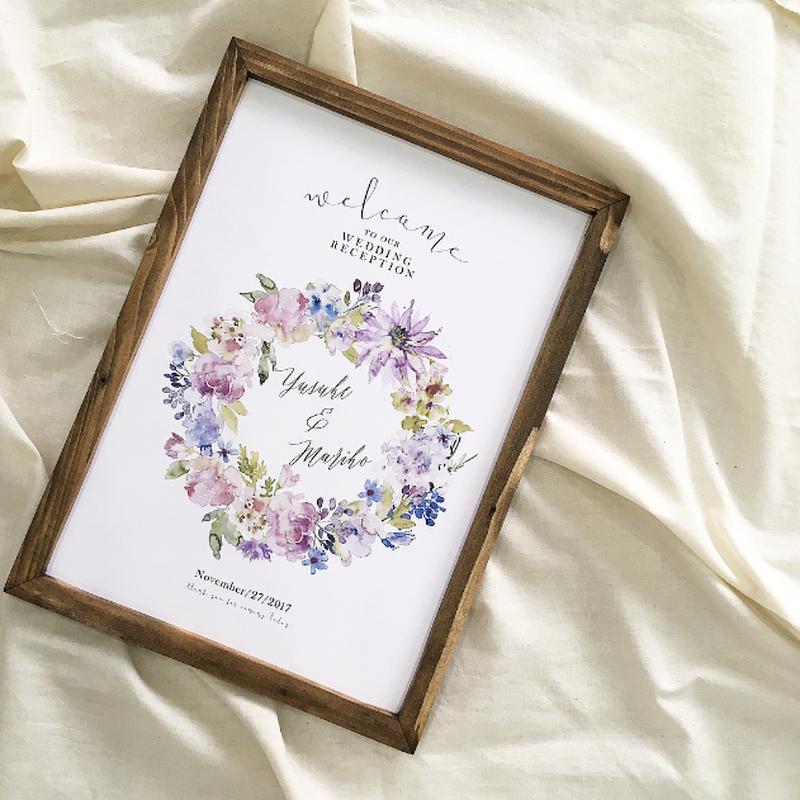 【ウェルカムボード】bouquet(A3)