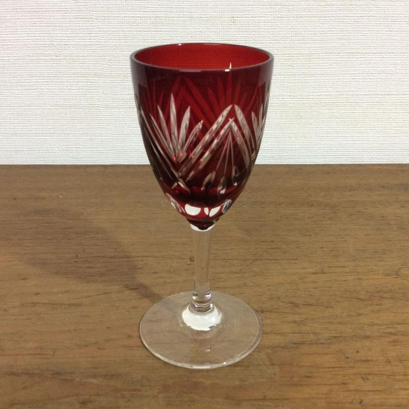 切子 リキュールグラス
