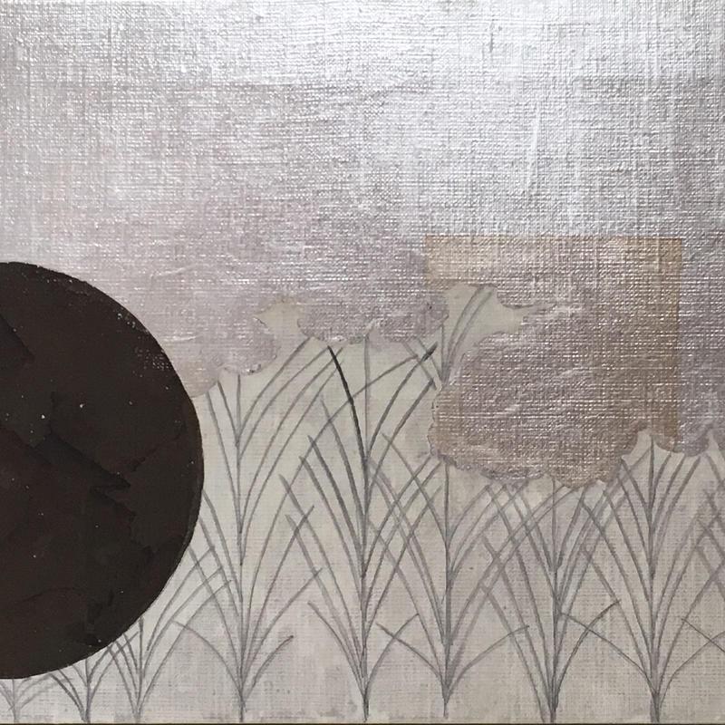 武蔵野図 銀