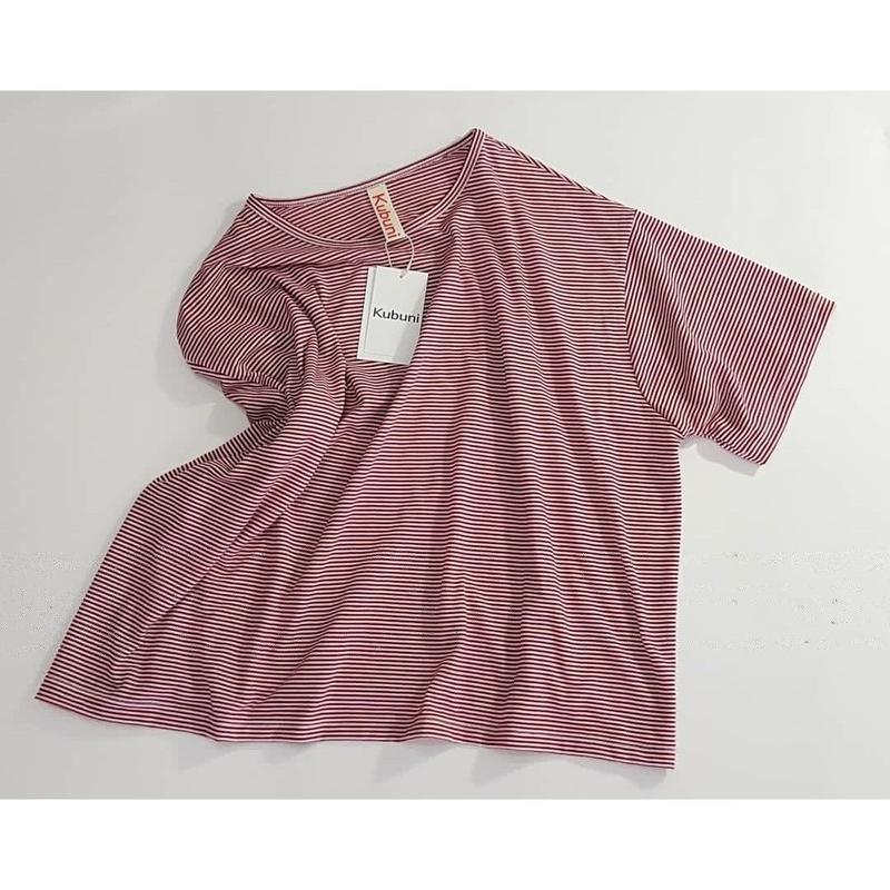 Tシャツ 赤細縞