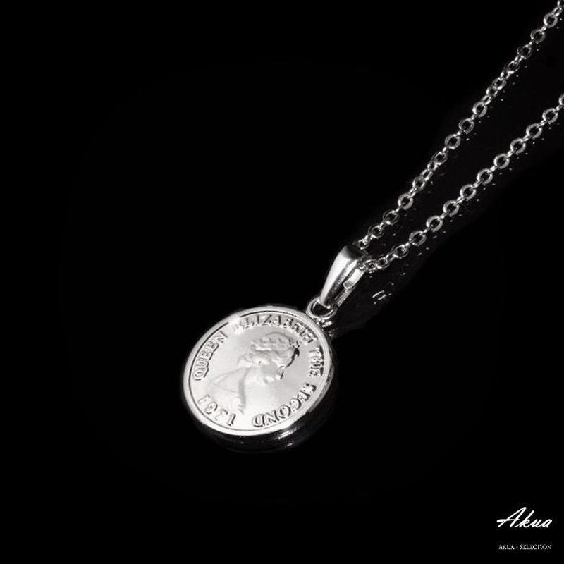 Coin necklace silver №30