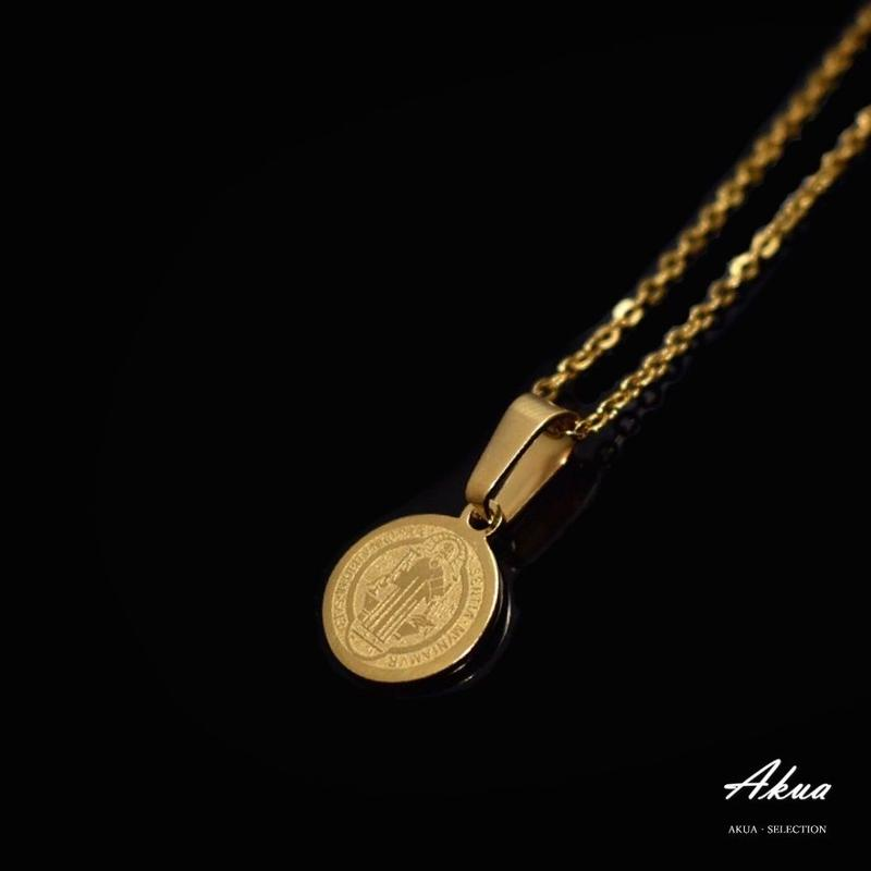 Maria coin necklace gold stainless steel №25