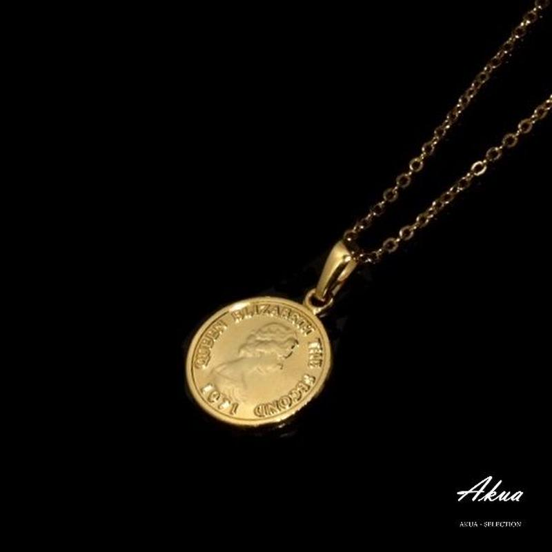 Coin necklace gold №29