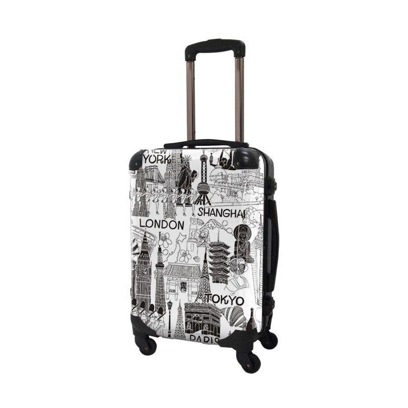 [着替式 スーツケース ]フレーム4輪|機内持込|ホワイト×ブラック|CRA01H-045A