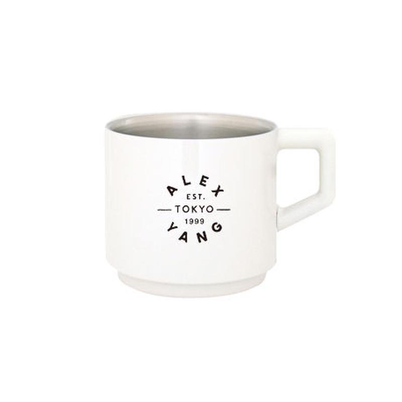 [真空マグカップ]410ml  ホワイト