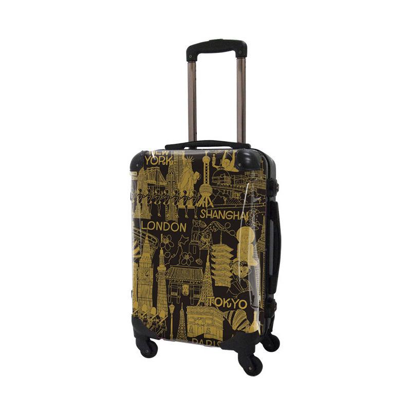 [着替式 スーツケース ]フレーム4輪|機内持込|キャメル×ブラック|CRA01H-045D