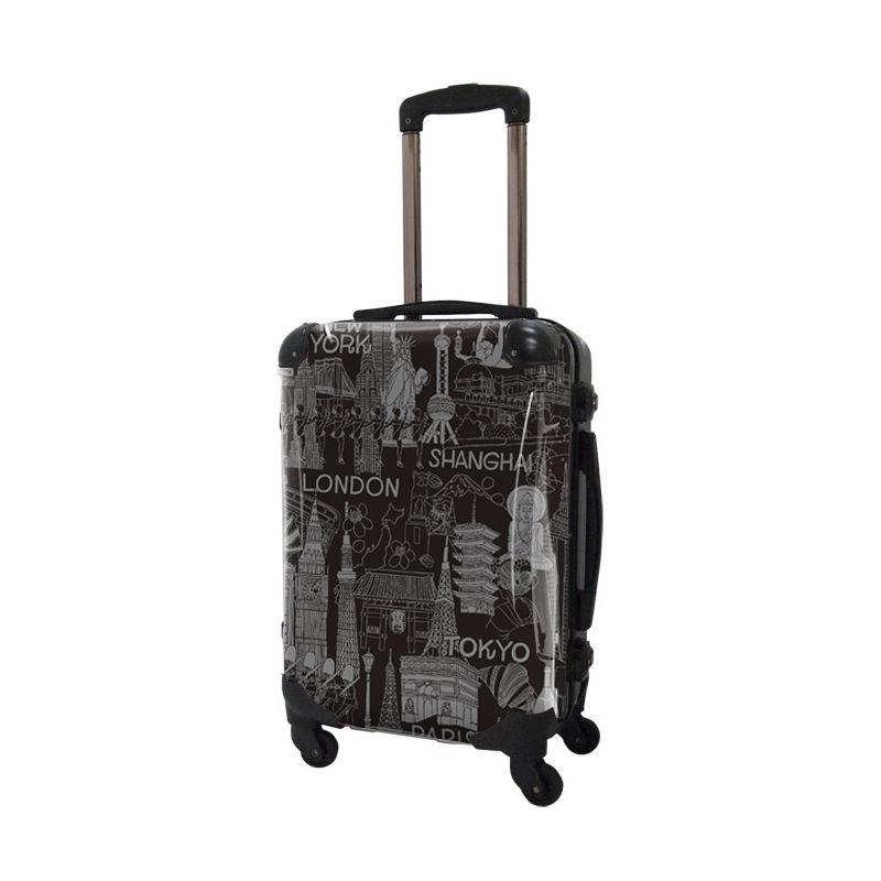 [着替式 スーツケース ]フレーム4輪|機内持込|グレ−×ブラック|CRA01H-045B