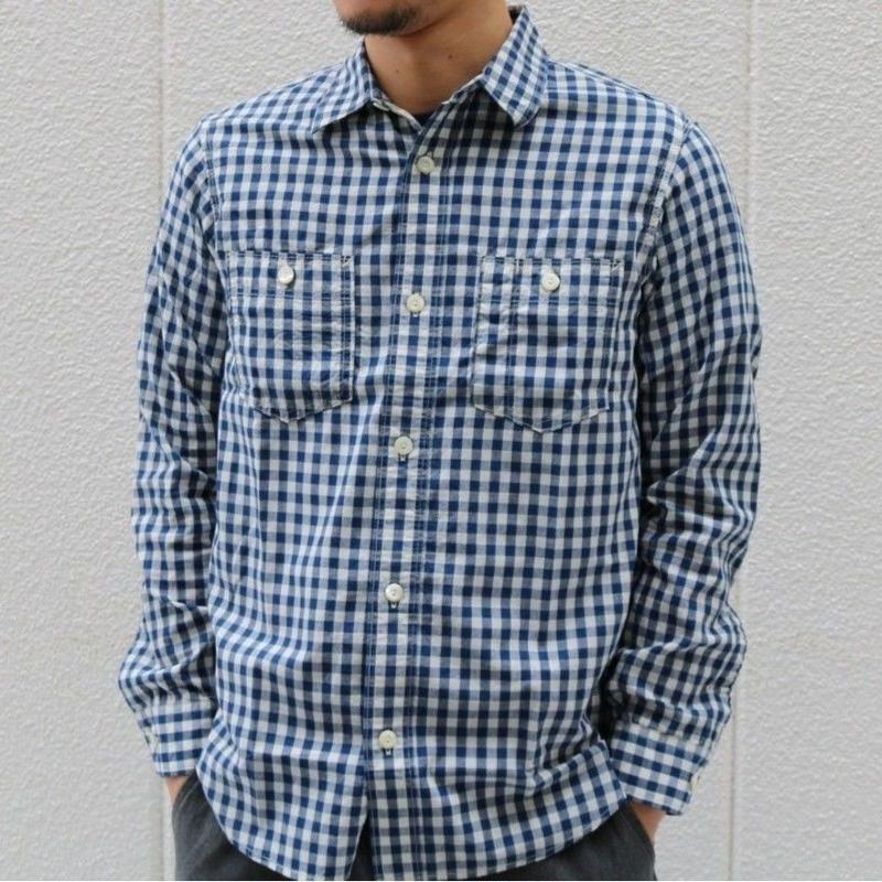 WORKERS 【Lt Work shirt】BlueGingam  Size14