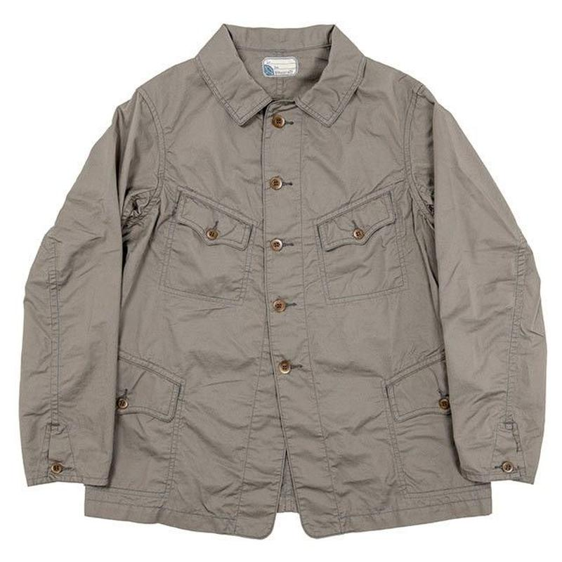 WORKERS K&T H MFG Co【F Jacket】 Cotton Linen Kersey, Khaki 40