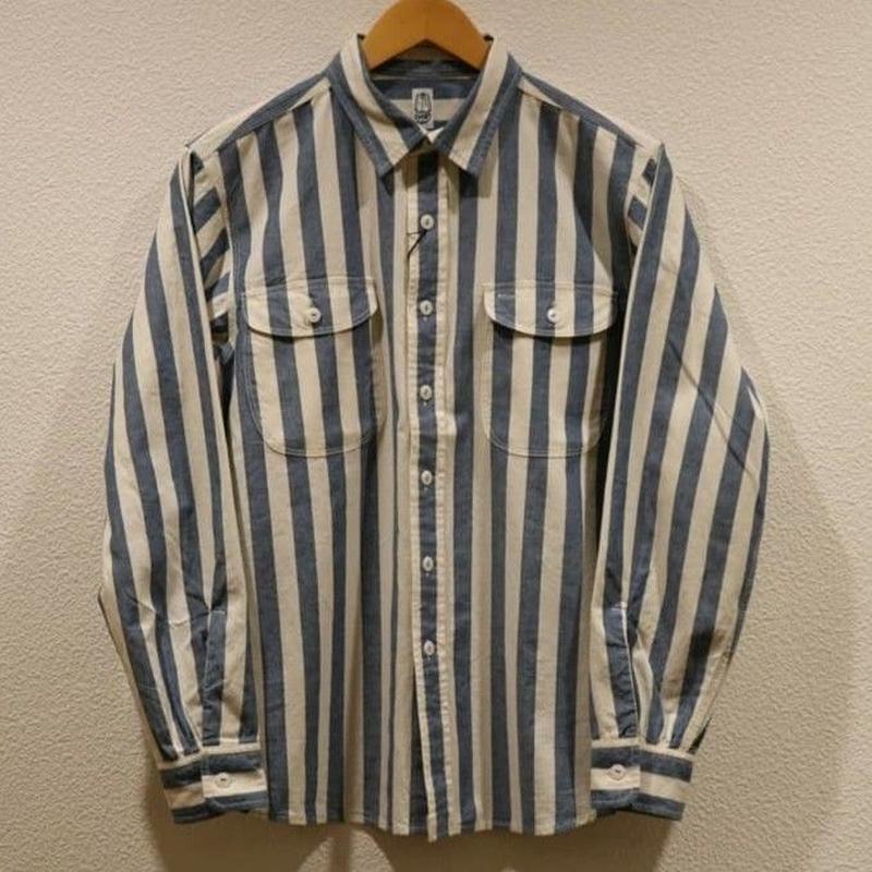 KATO'【インディゴダンガリーワークシャツ】Size.14