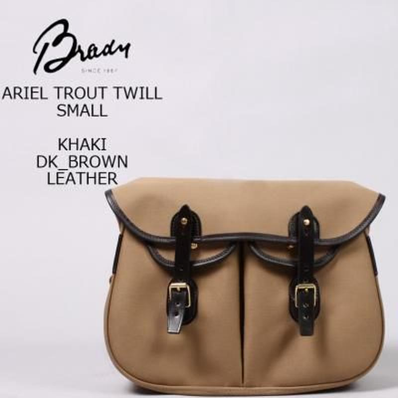 BRADY  【ARIEL TROUT TWILL SMALL】(KHAKI×DK BROWN)