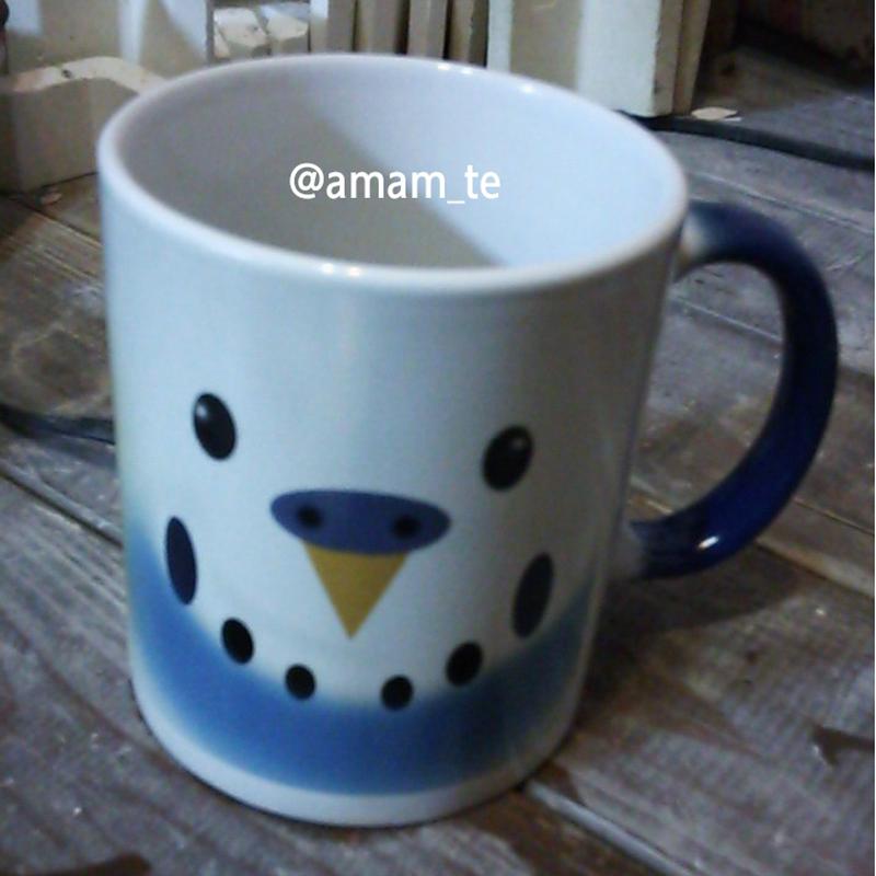 色の変わるマグカップ(インコ)