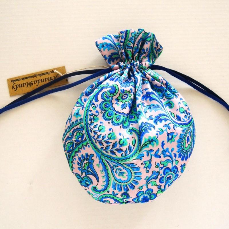 リバティキャンディ巾着・リーズル・ピンクブルー1