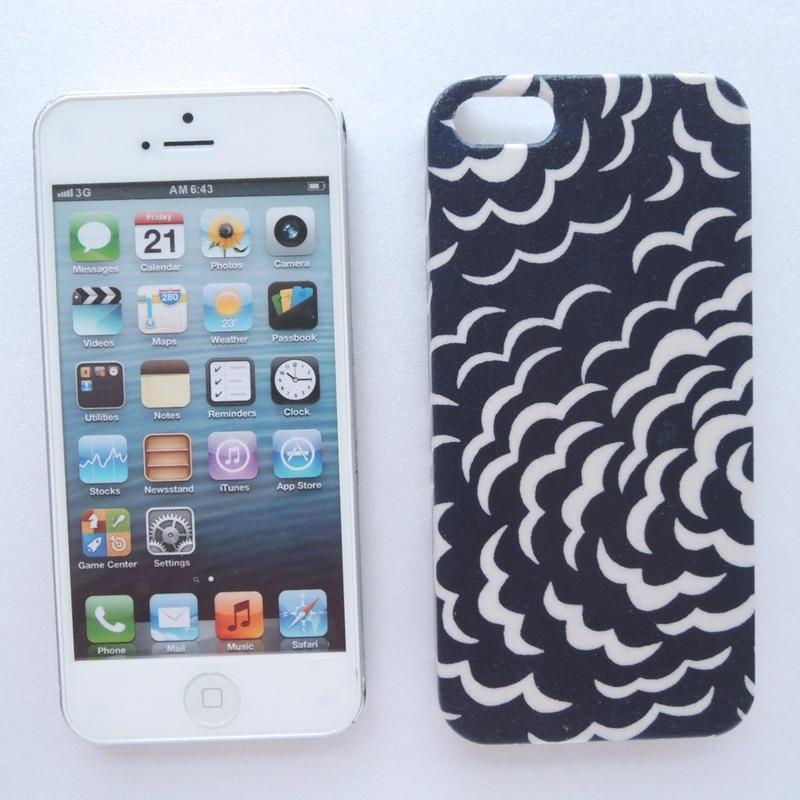 iPhoneSE/5sケース/リバティ・パフ・ネイビー