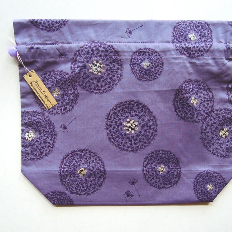 リバティトラベル巾着 フェアリークロック パープル1(お客様レビューあり)