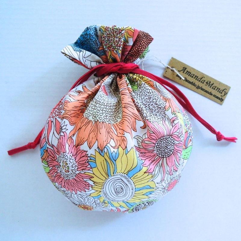 リバティキャンディ巾着・スモールスザンナ・カラフル