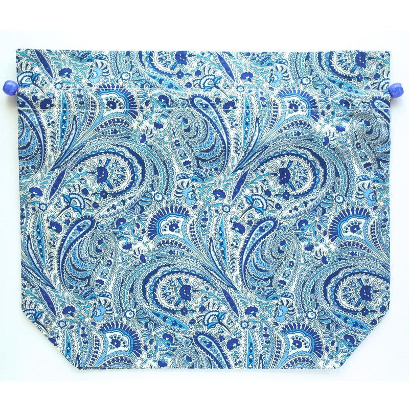 トラベル巾着大・アビーロード・ブルー