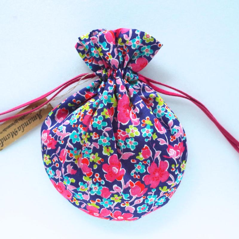 リバティキャンディ巾着・ジョン・ピンクパープル