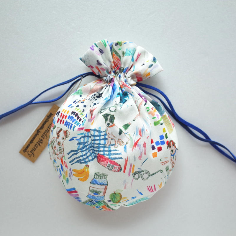 リバティキャンディ巾着・ア・スタジオ・ブルー