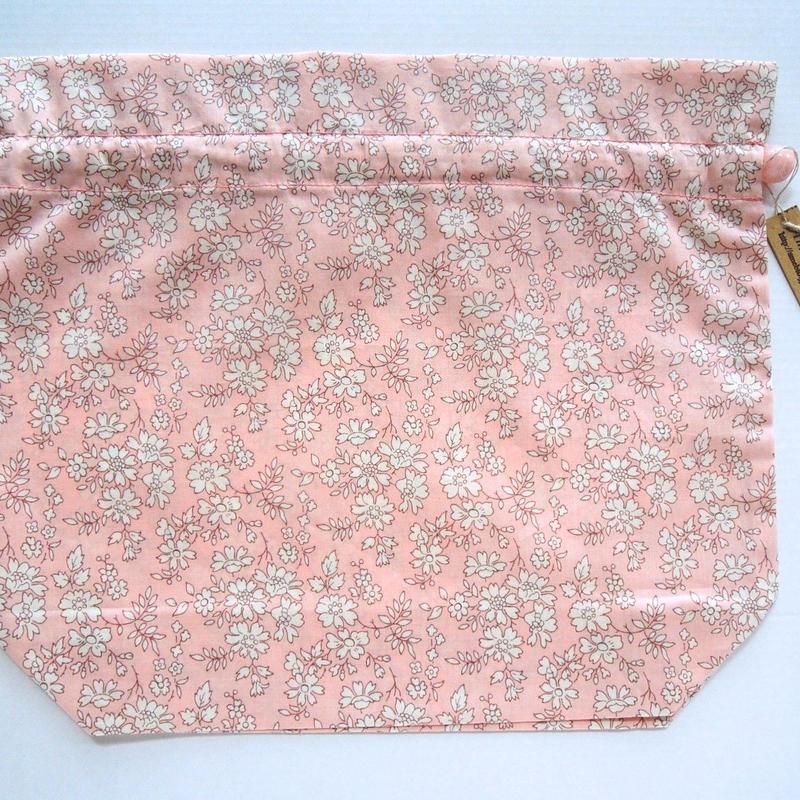リバティトラベル巾着・カペル・ピンク