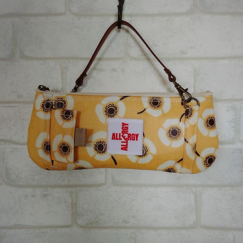 ひょっこりエピペン用ポーチ・ラミネート生地 1本薄型ペンポーチタイプ【No.190210D】