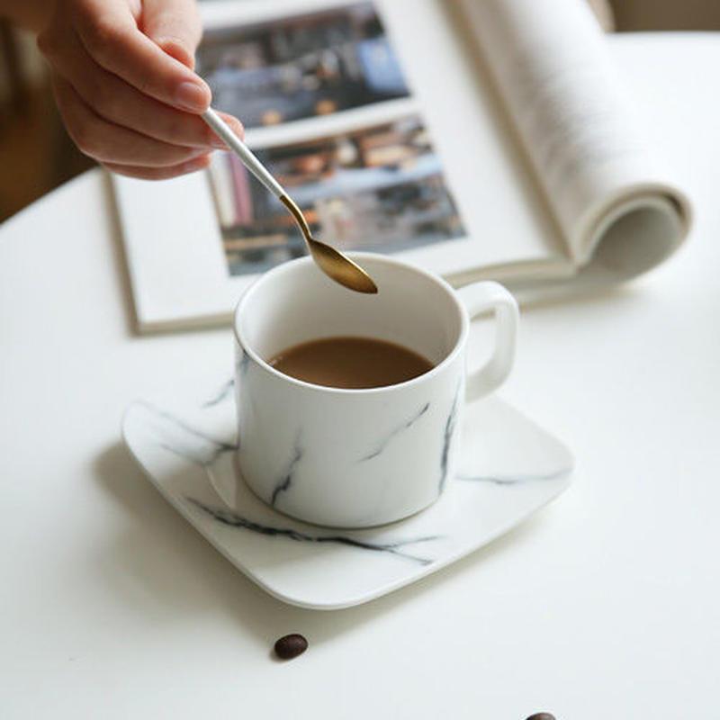 Marbleコーヒーカップ&ソーサーセット