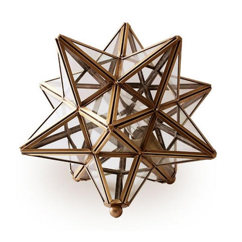 Brass Polyhedronルームランプ
