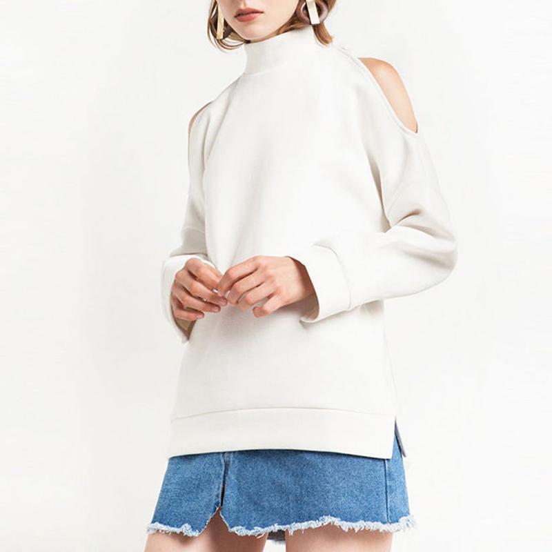 Mock Neck Splitスウェットシャツ