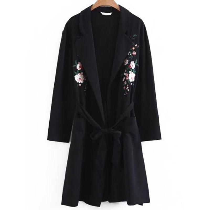 Floral刺繍ガウン