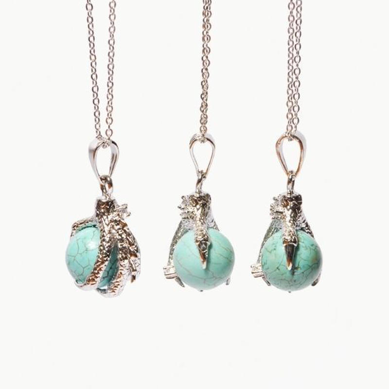 《Crystal Cactus》TARGARIAN Turquoise Silver Claw ネックレス